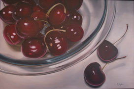 Cherries in a Bowl by Ted Conly